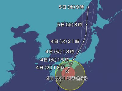 台風21号の影響による授業の取扱いについて